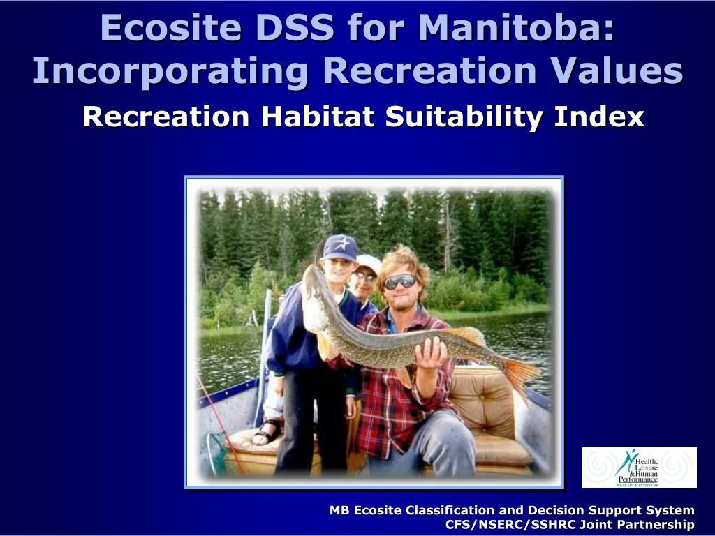 Ecosite DSS for Manitoba: