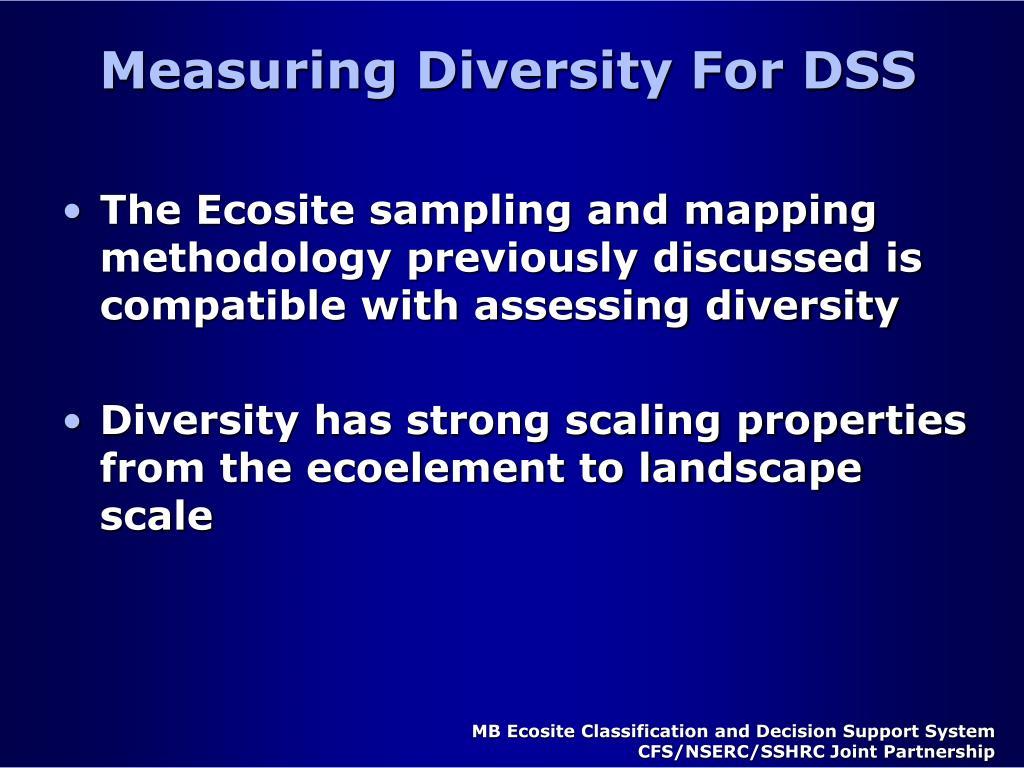 Measuring Diversity For DSS
