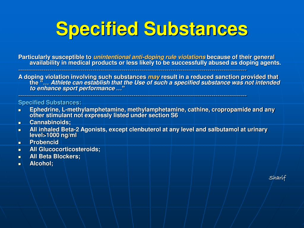 Specified Substances