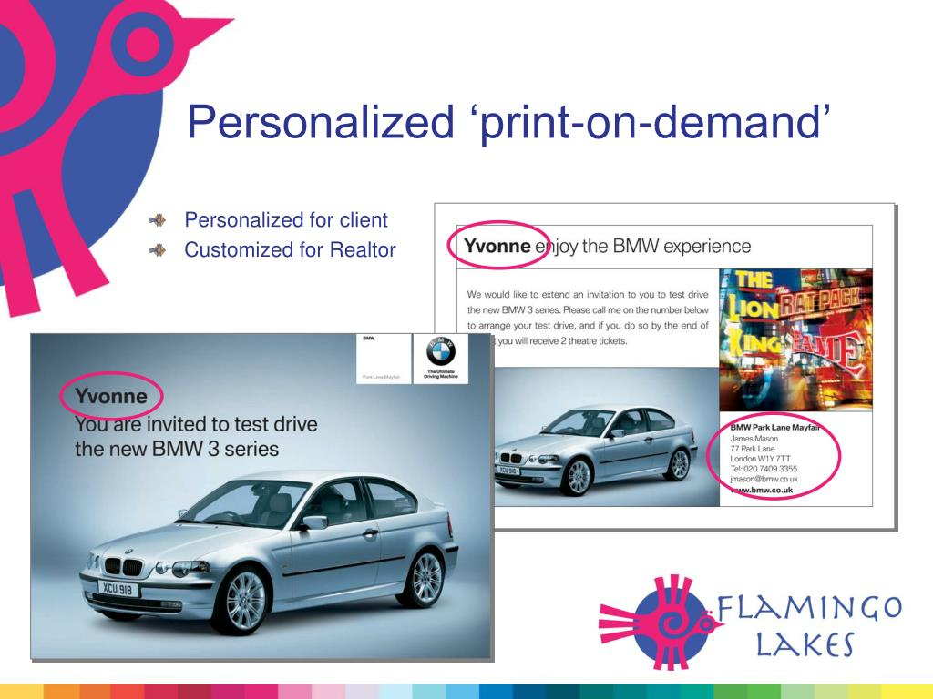 Personalized 'print-on-demand'