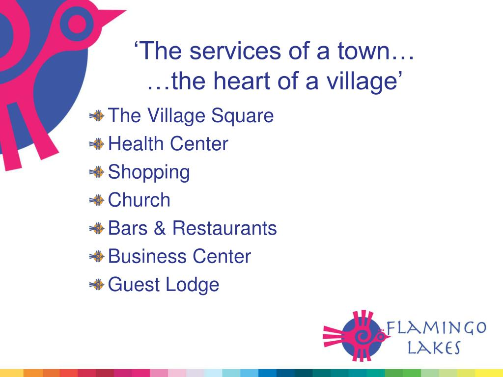'The services of a town…