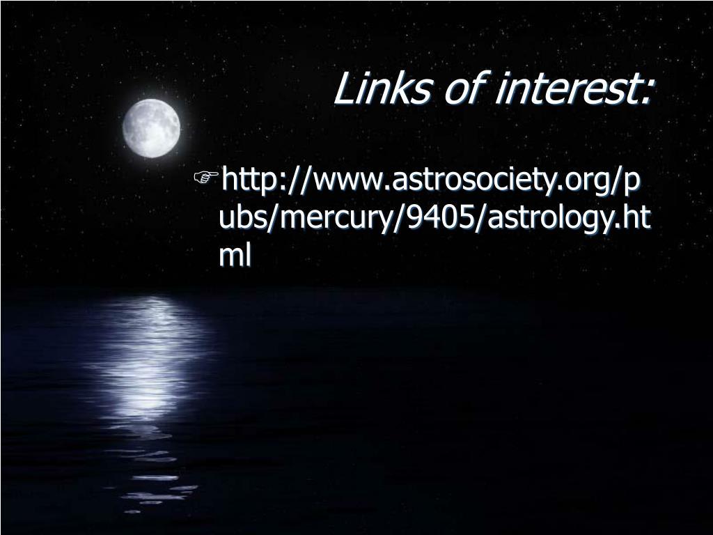 Links of interest: