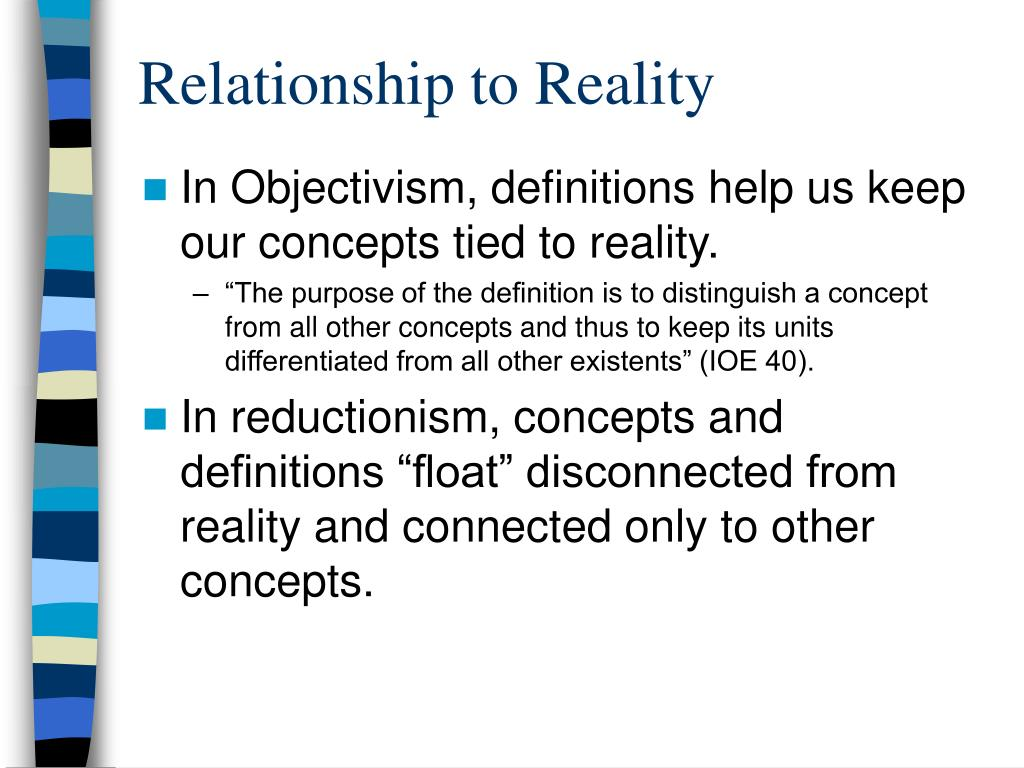 Relationship to Reality