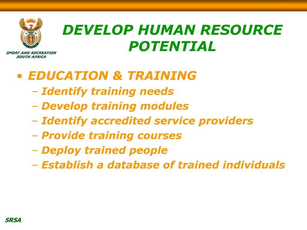 DEVELOP HUMAN RESOURCE POTENTIAL