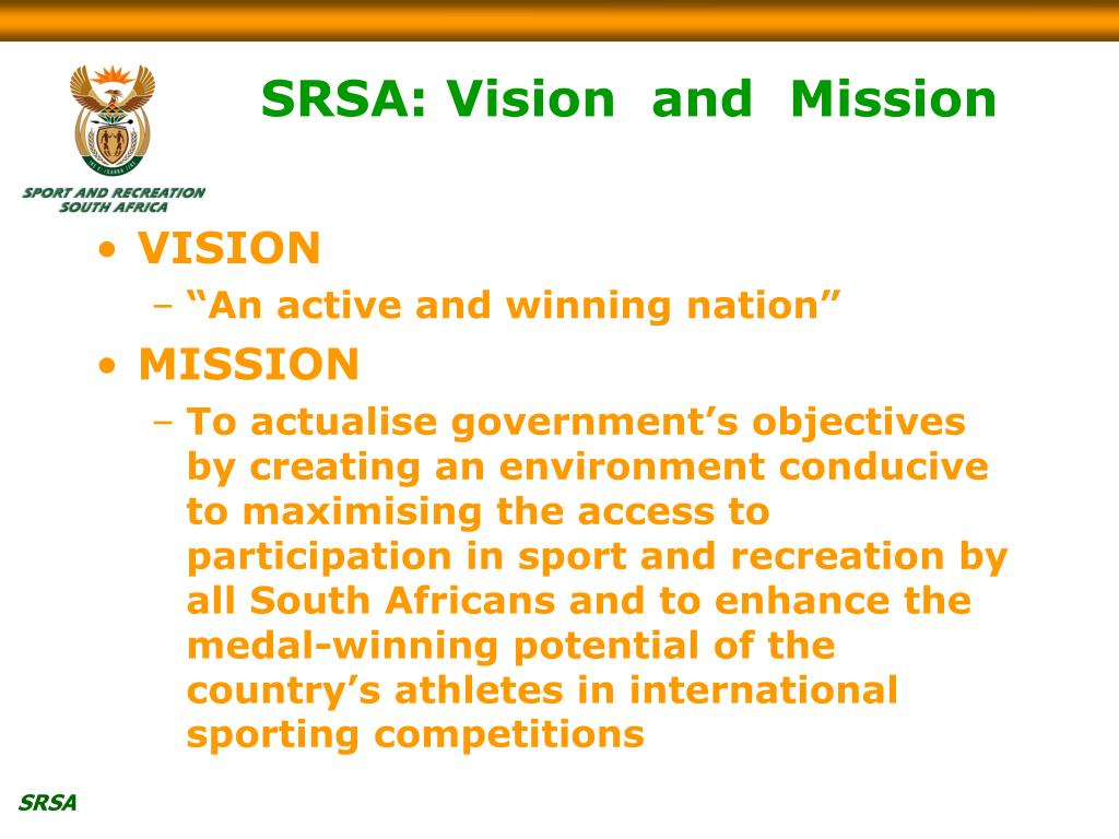 SRSA: Vision  and  Mission
