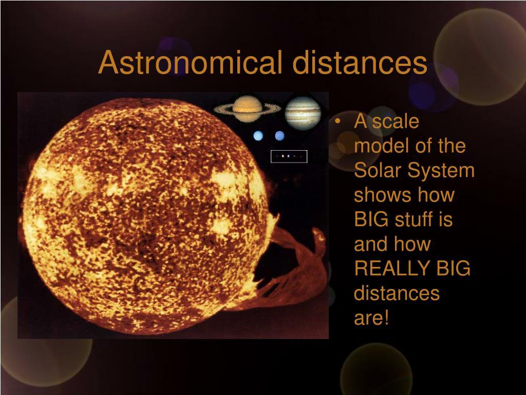 Astronomical distances