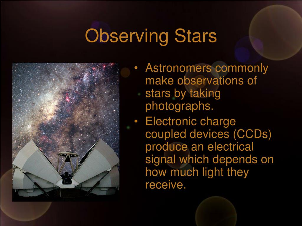 Observing Stars