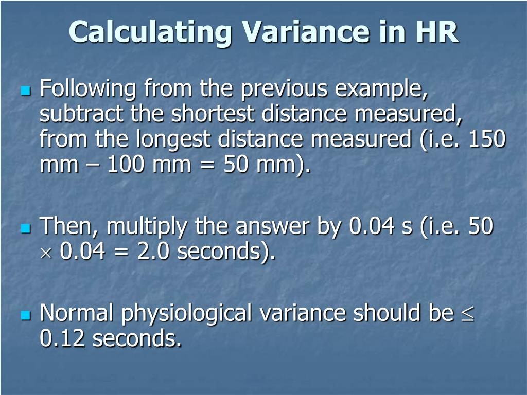 Calculating Variance in HR