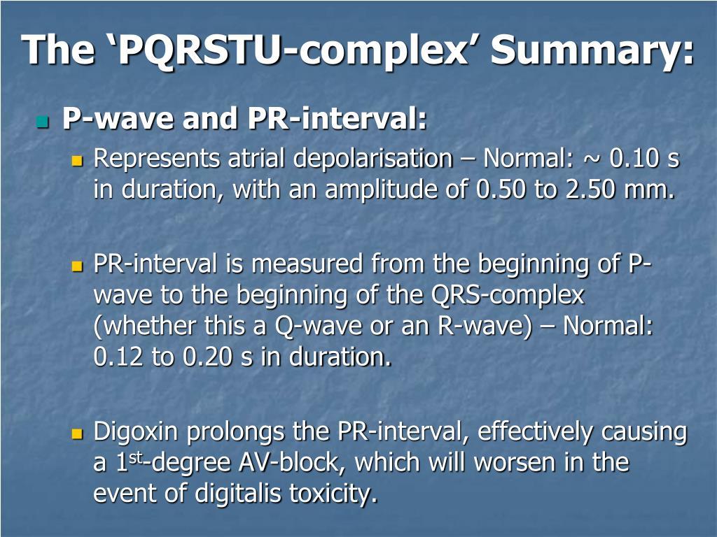 The 'PQRSTU-complex' Summary: