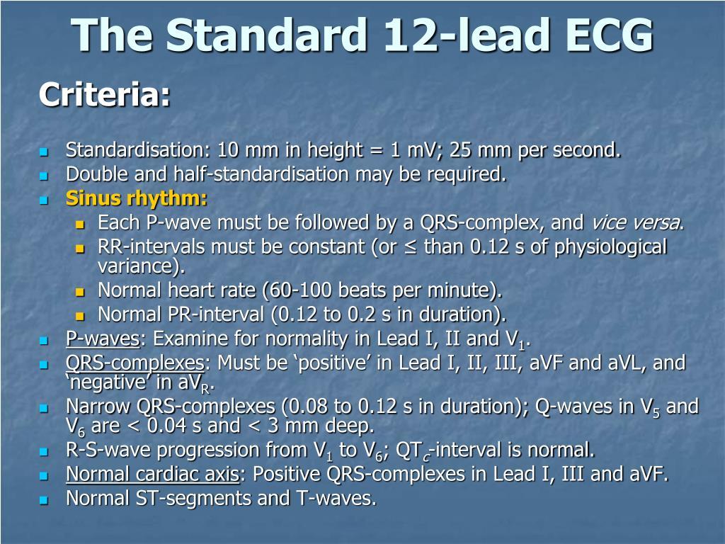 The Standard 12-lead ECG