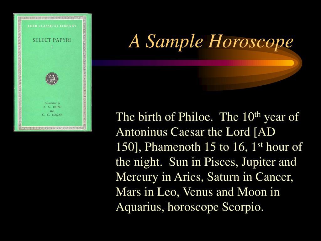 A Sample Horoscope