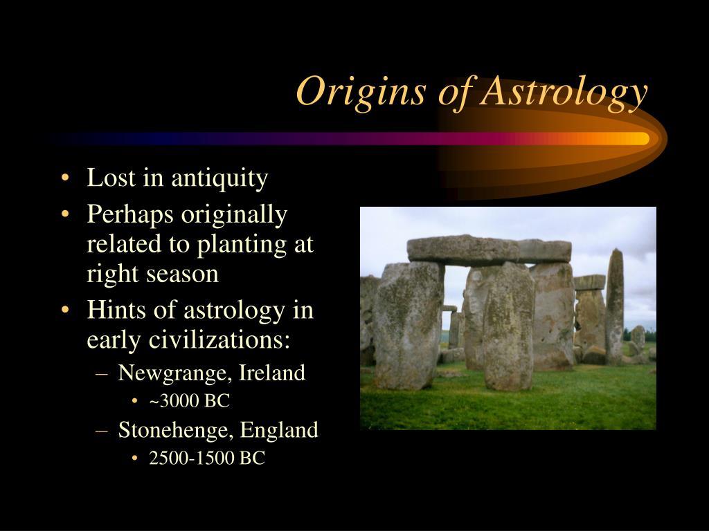 Origins of Astrology