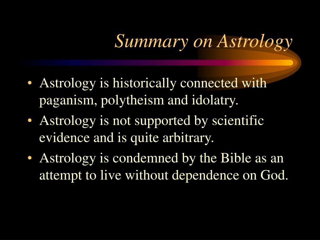 Summary on Astrology