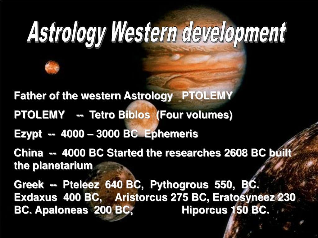 Astrology Western development