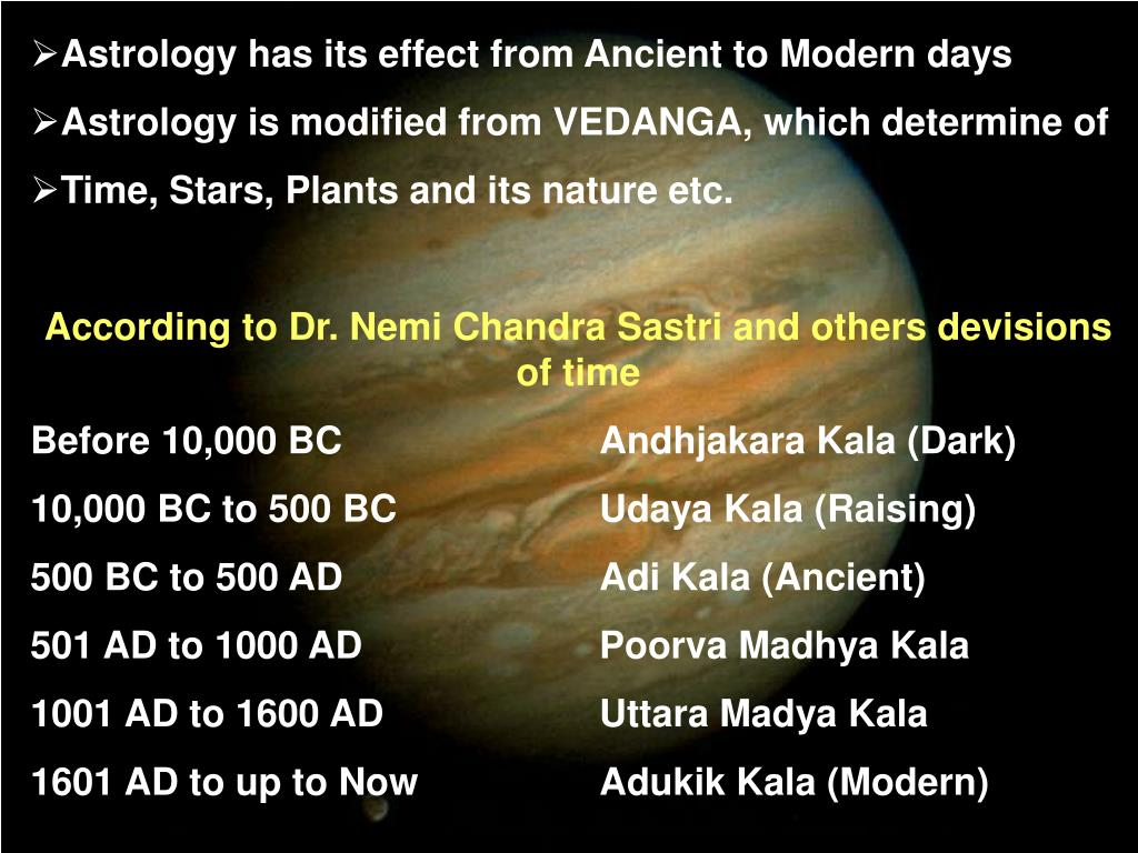 Astrology has its effect from Ancient to Modern days