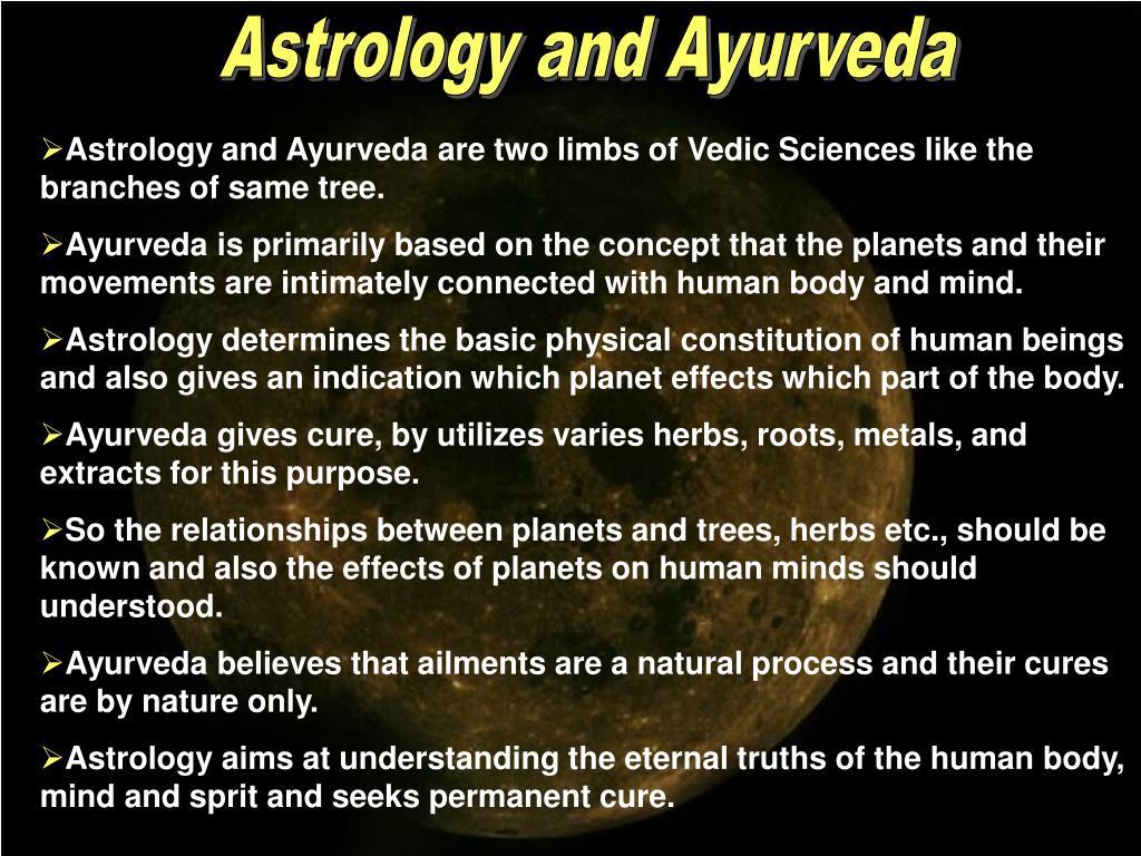 Astrology and Ayurveda