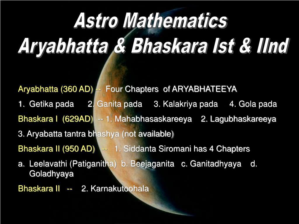 Astro Mathematics