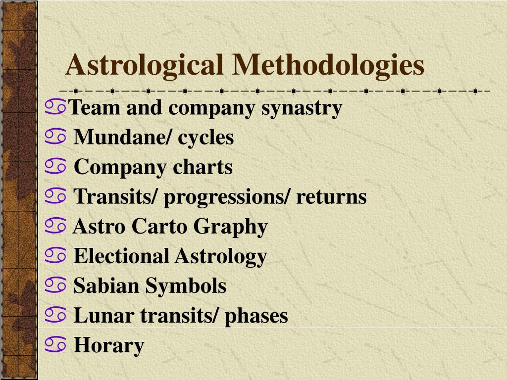 Astrological Methodologies