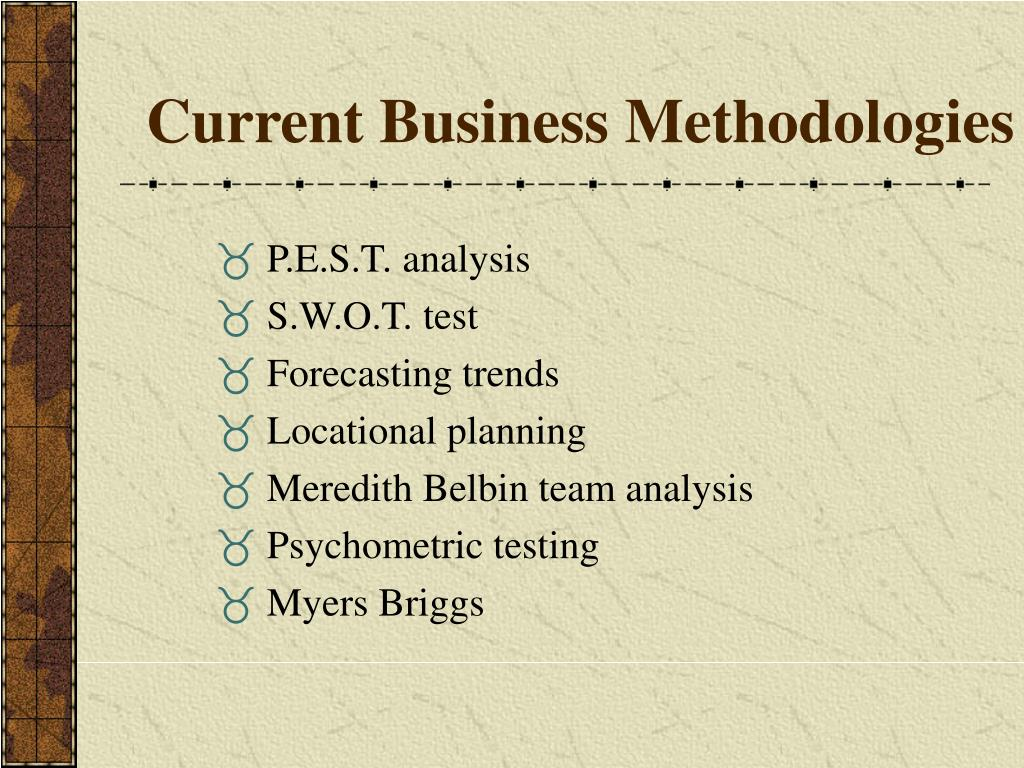 Current Business Methodologies
