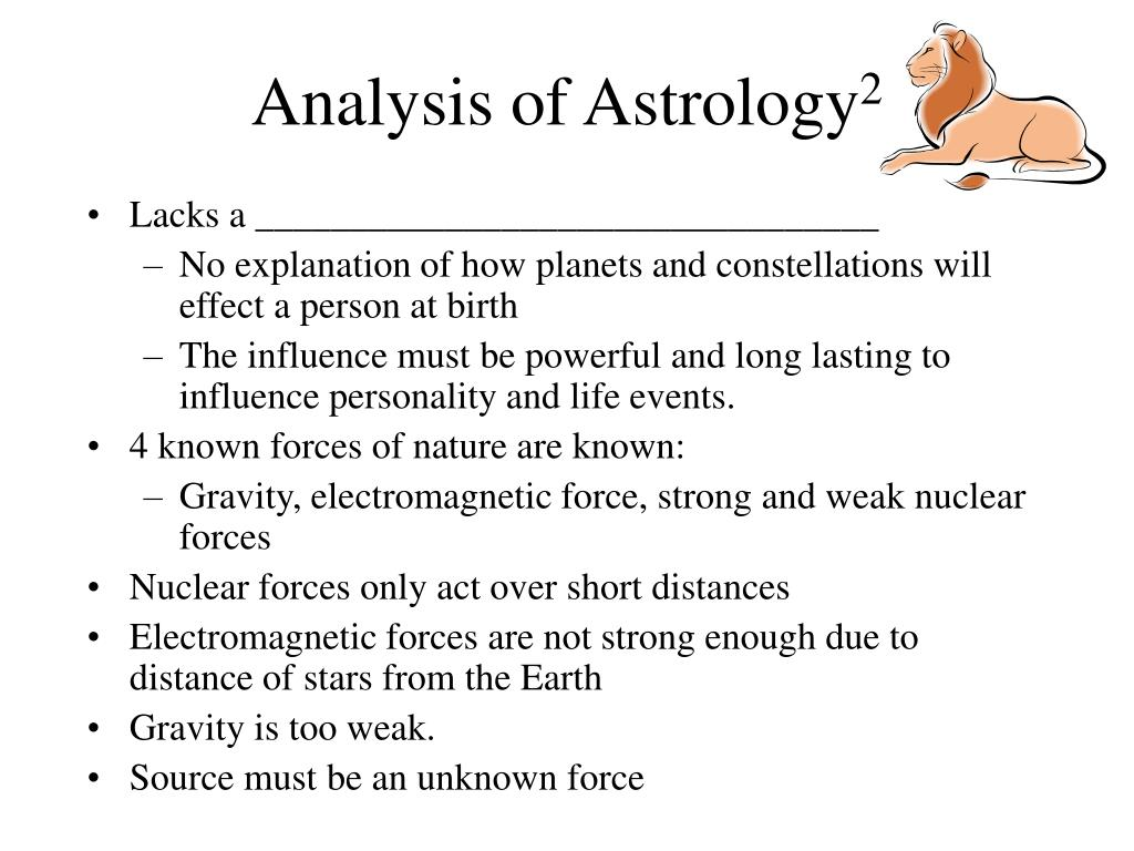 Analysis of Astrology