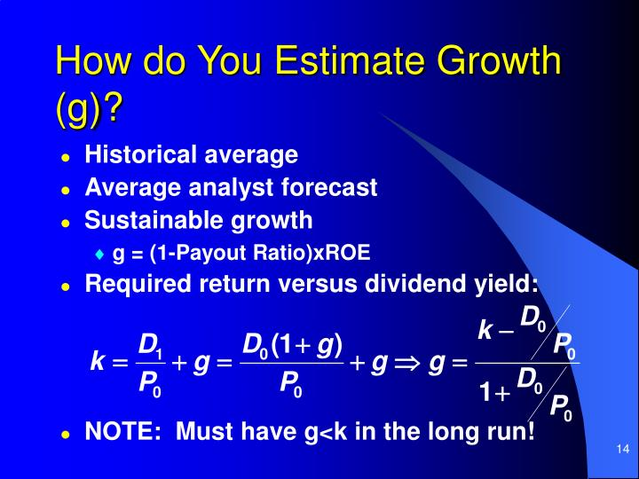 How do You Estimate Growth (g)?