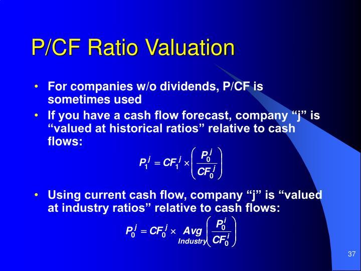 P/CF Ratio Valuation