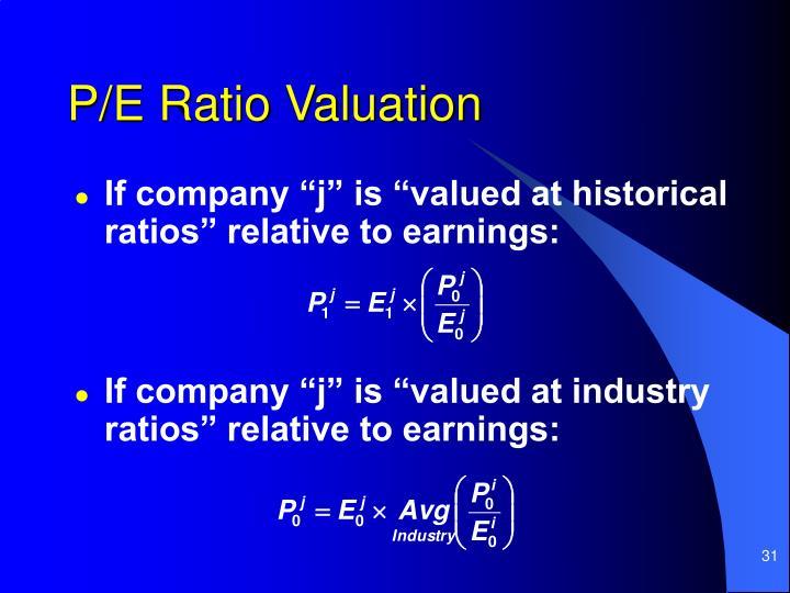 P/E Ratio Valuation