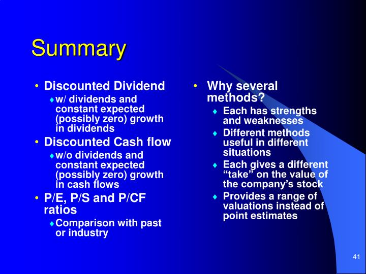 Discounted Dividend