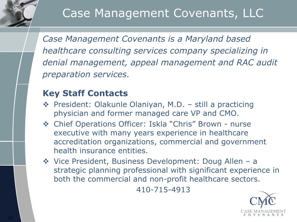 Case Management Covenants, LLC