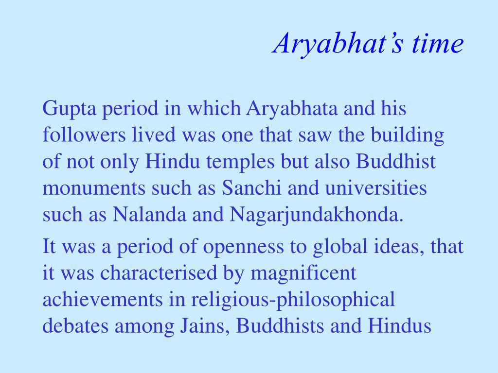 Aryabhat's time