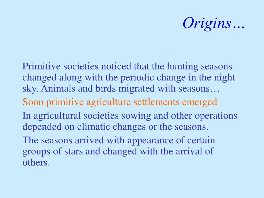 Origins…