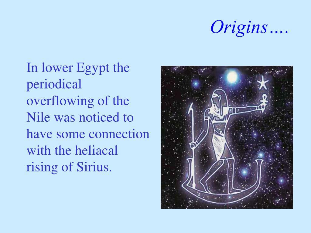 Origins….