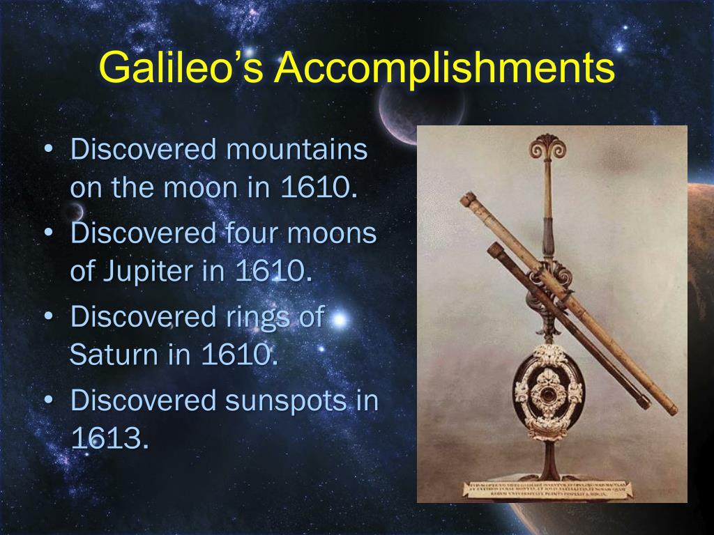Galileo's Accomplishments
