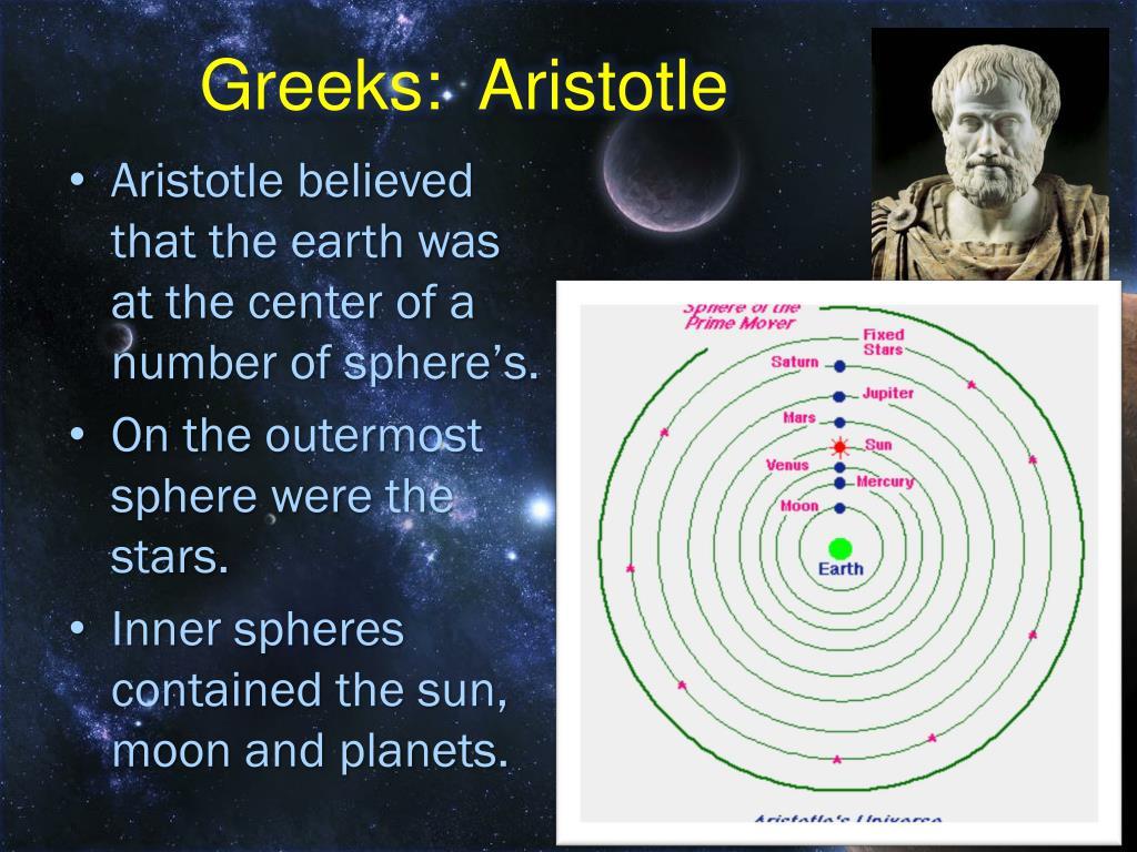 Greeks:  Aristotle
