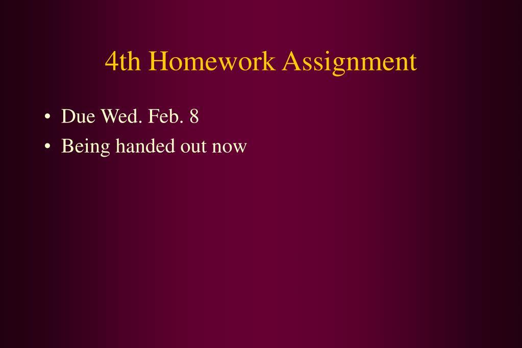 4th Homework Assignment