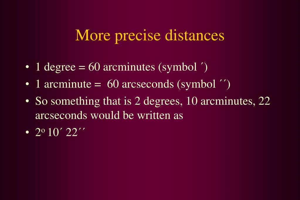 More precise distances