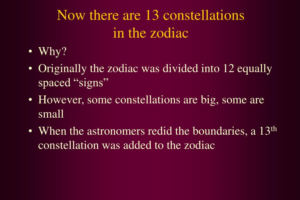 Now there are 13 constellations