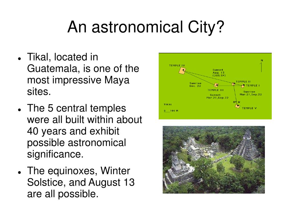 An astronomical City?