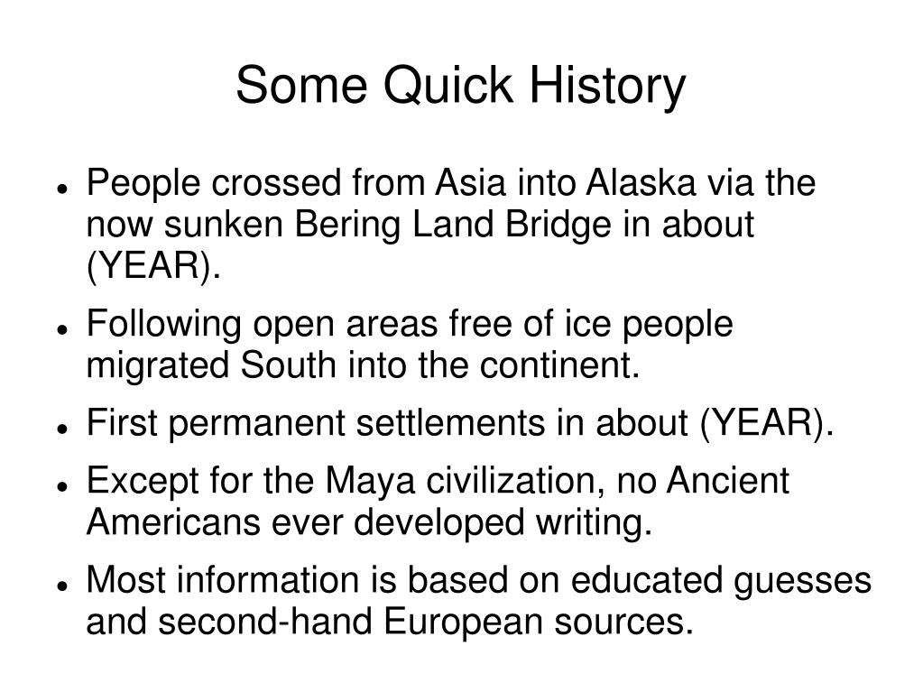 Some Quick History