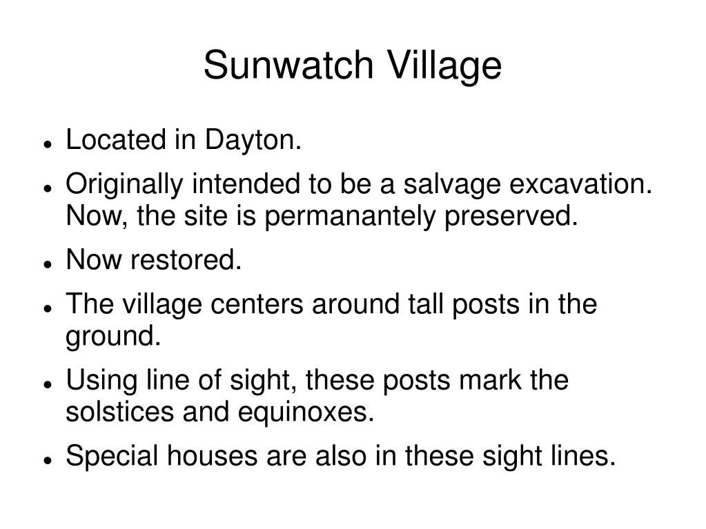 Sunwatch Village