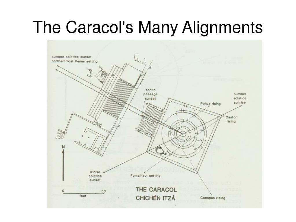 The Caracol's Many Alignments