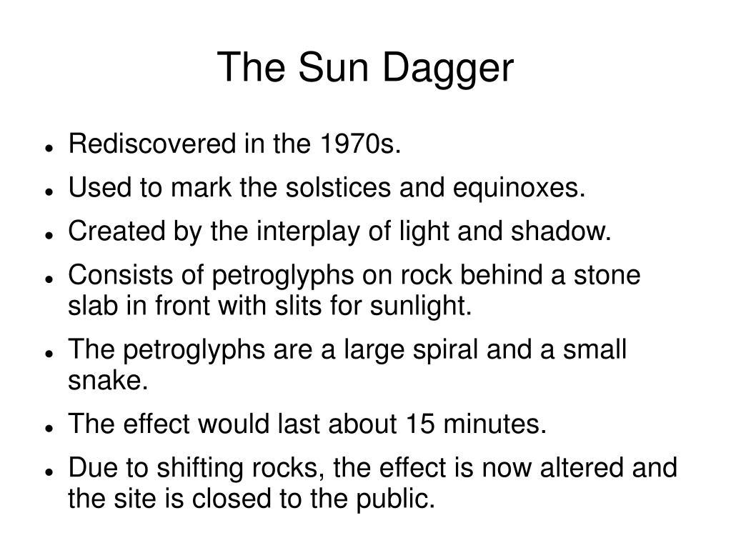 The Sun Dagger