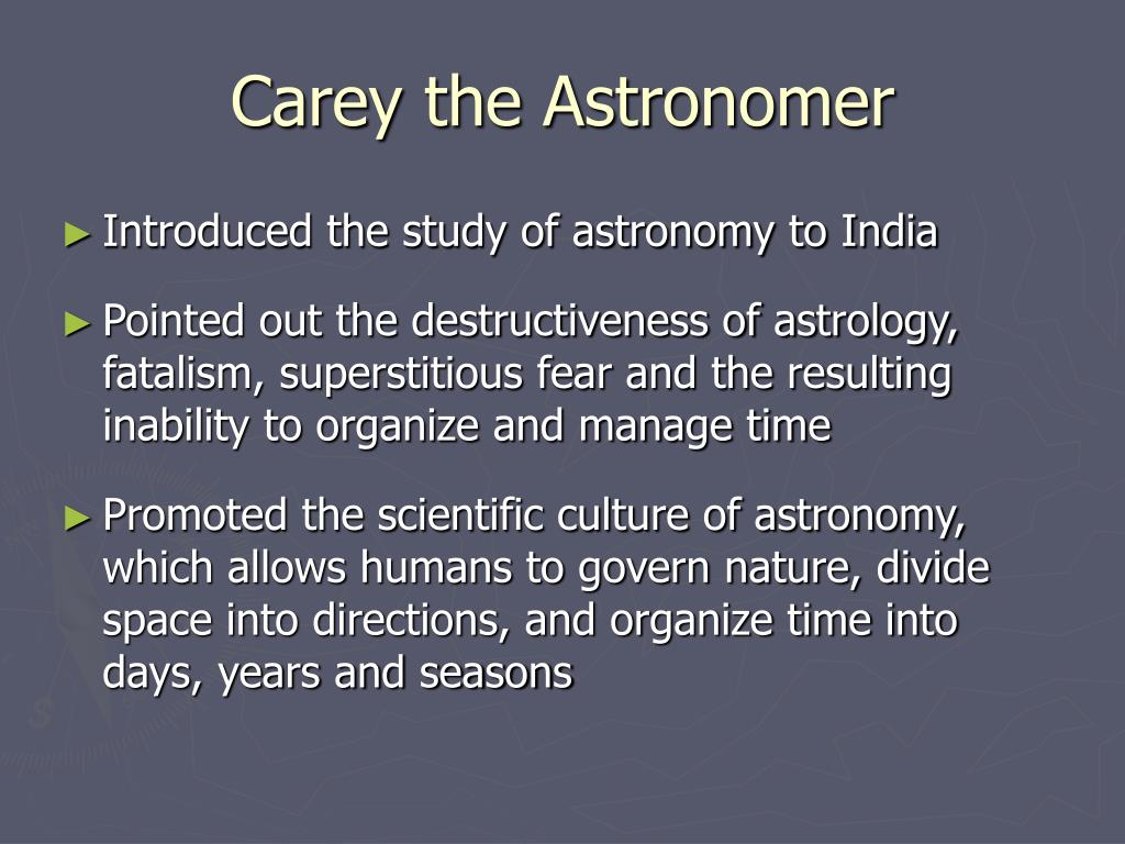 Carey the Astronomer