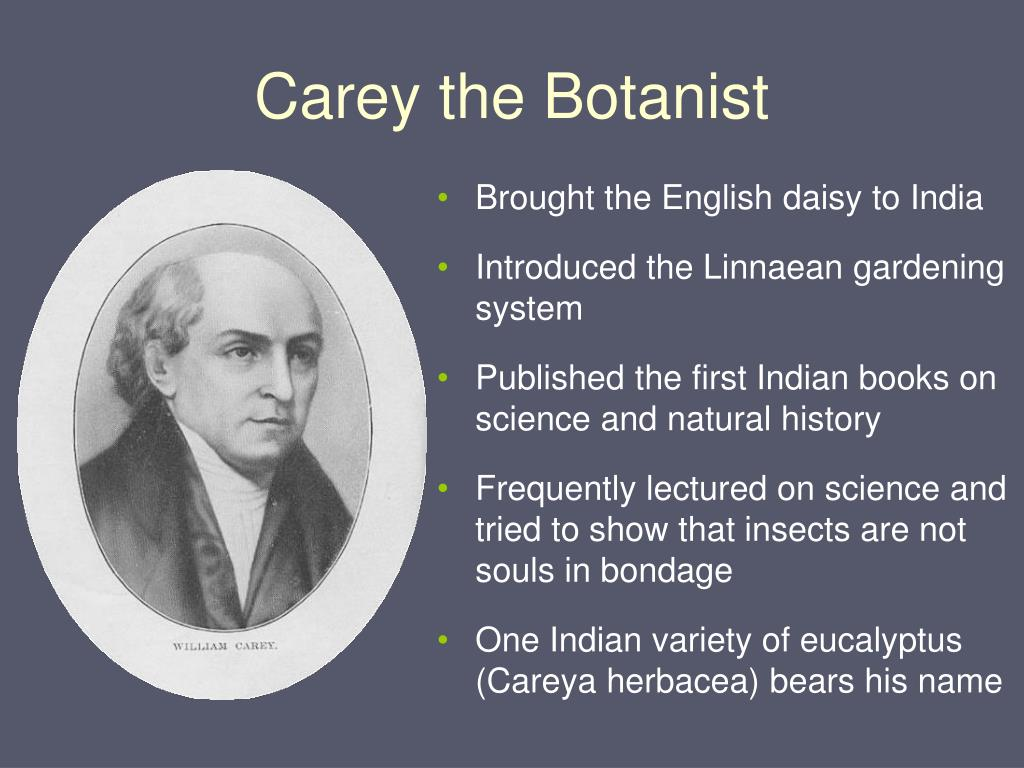 Carey the Botanist