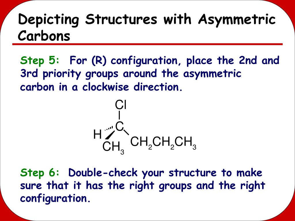 Depicting Structures with Asymmetric Carbons