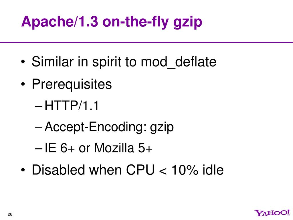 Apache/1.3 on-the-fly gzip