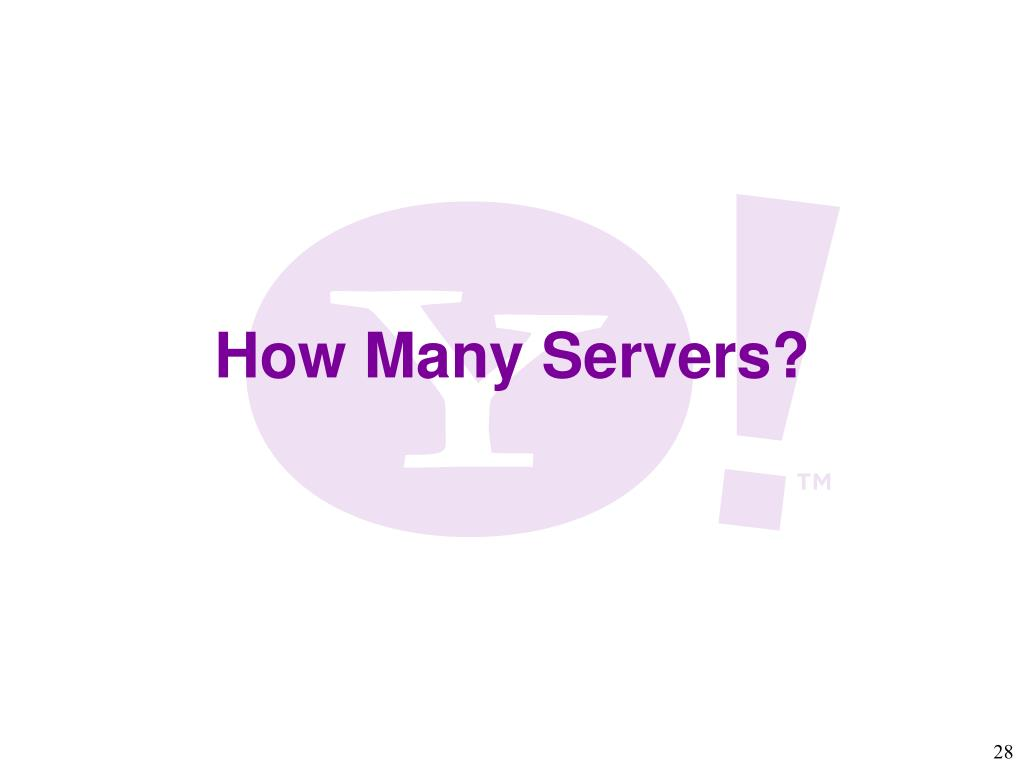 How Many Servers?