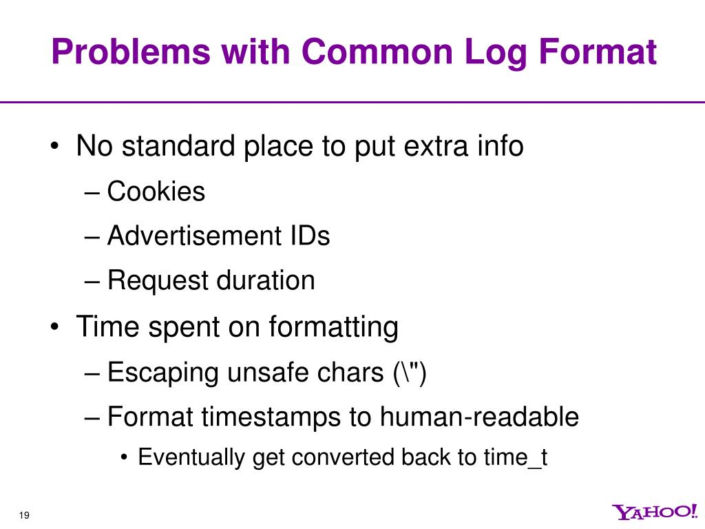 Problems with Common Log Format