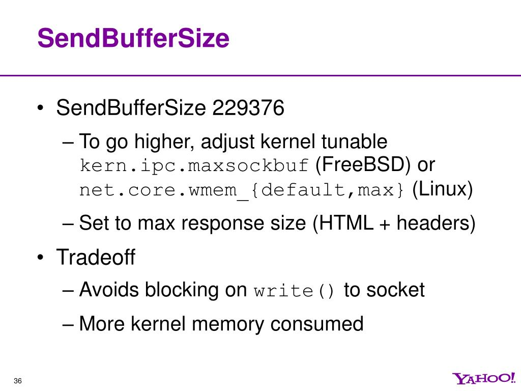 SendBufferSize