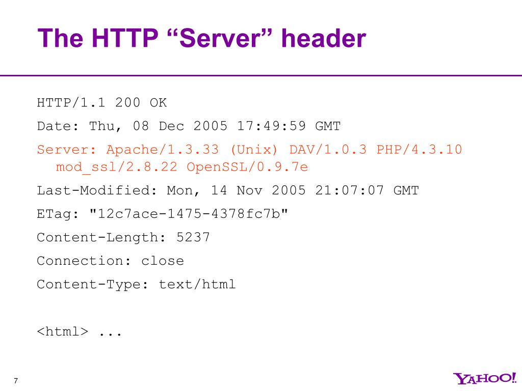 """The HTTP """"Server"""" header"""